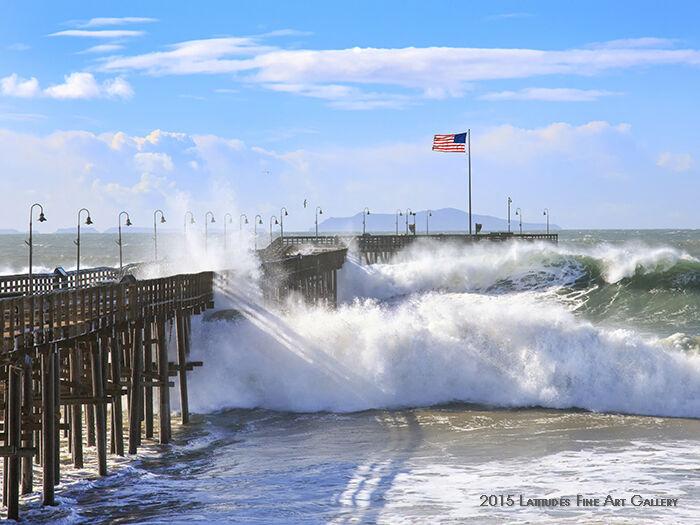 Big Waves at Ventura Pier…El Nino's Arrival