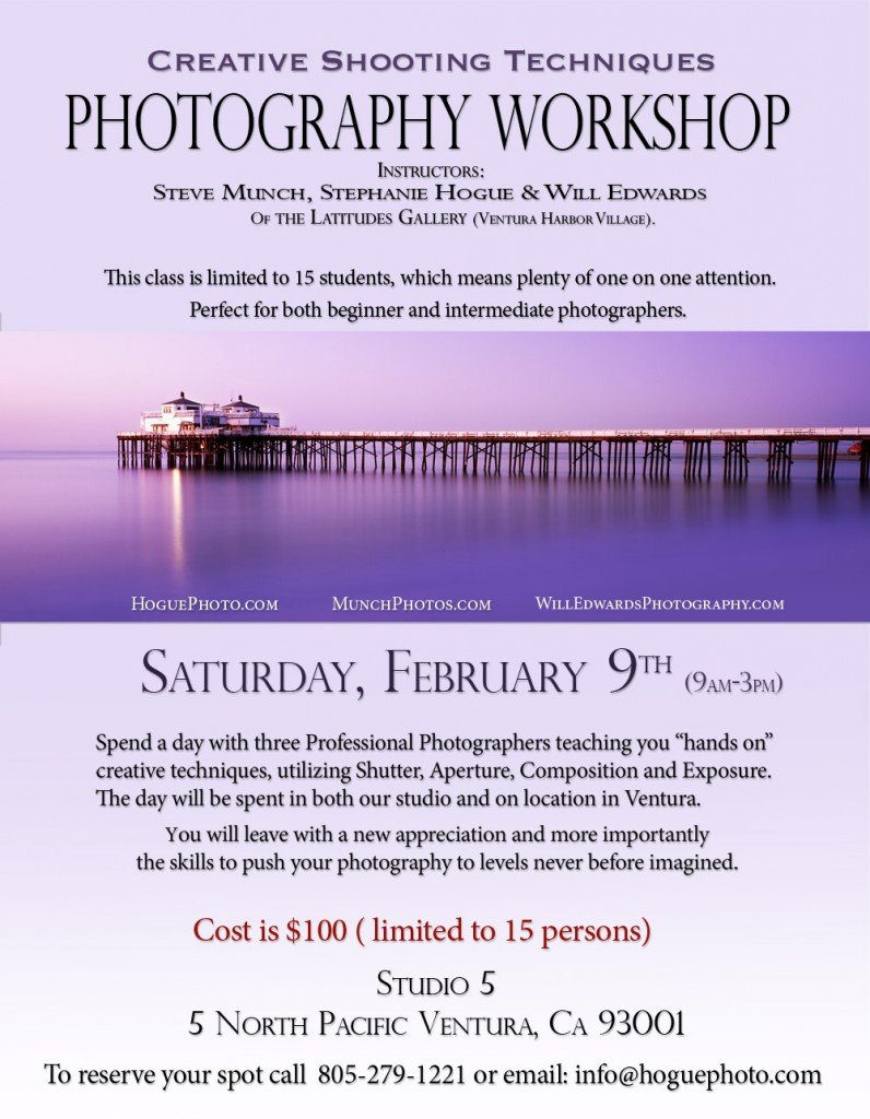 New Photo Workshops coming for 2013