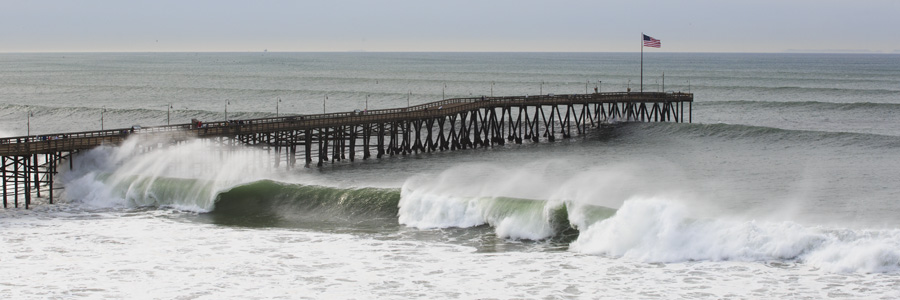 Ventura Pier Gets Pounded by Heavy Surf