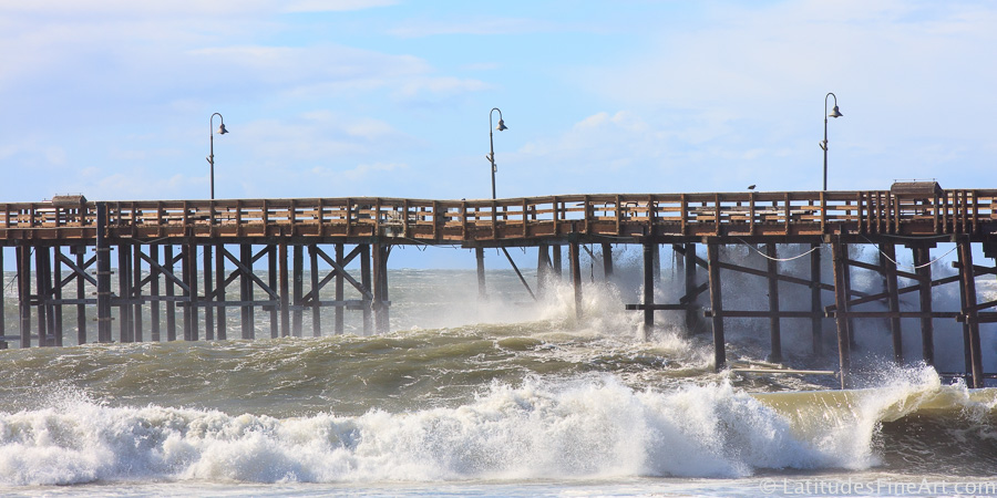 Waves At Ventura Pier El Nino S Arrival Laudes Fine Art Gallery Ocean Front Pierpont Beach Ca Pinterest